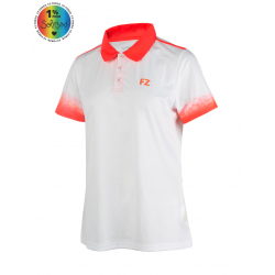 DUDLEY POLO BLANC ORANGE