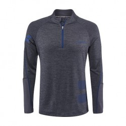 SWEAT PERF 1/2 MEN GREY