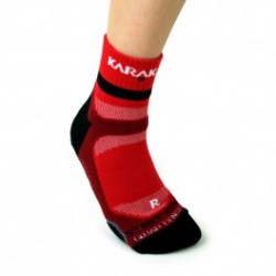 Chaussettes ankle Karakal rouge