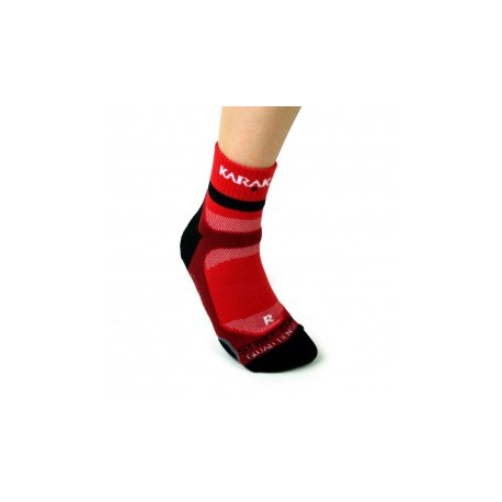 Chaussettes ankle Karakal rouge