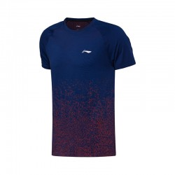 TEE SHIRT AAYN181 INTERGRATED WEAVE MEN BLUE