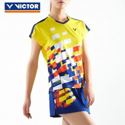 VICTOR T-SHIRT MALAYSIA NATIONAL TEAM JAUNE FEMME