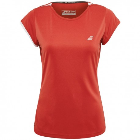 PERF CAP SLEEVE TOP WOMEN ROUGE