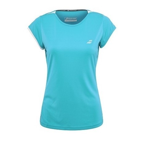 PERF CAP SLEEVE TOP WOMEN BLEU