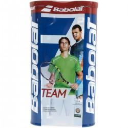 BABOLAT 2X TUBE BALLES TENNIS TEAM