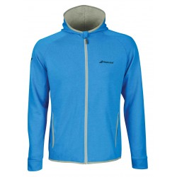BABOLAT CORE HOOD SWEAT MEN BLEU CLAIR