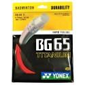 BG 65 TITANIUM YONEX GARNITURE ROUGE