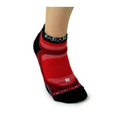 Chaussettes invisible trainer Karakal rouge